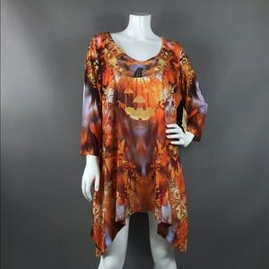 LIVE AND LET LIVE HALLOWEEN SUBLIMATION TUNIC